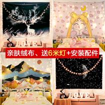 背景布ins风挂布网红直播房间装饰背景墙布宿舍卧室床头布置挂毯