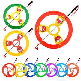 新款幼儿园风火轮彩色滚铁环滚铁圈户外运动感统训练亲子儿童玩具