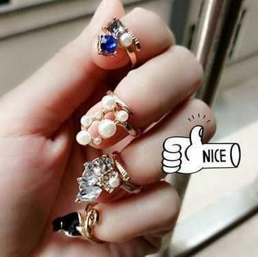 Protection daily nail breaking female nail protection finger good simple cover decoration ring nail cover beautiful protection broken female ring