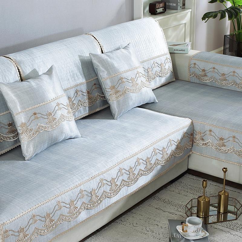10月10日最新优惠防滑欧式皮沙发套罩夏天款凉席客