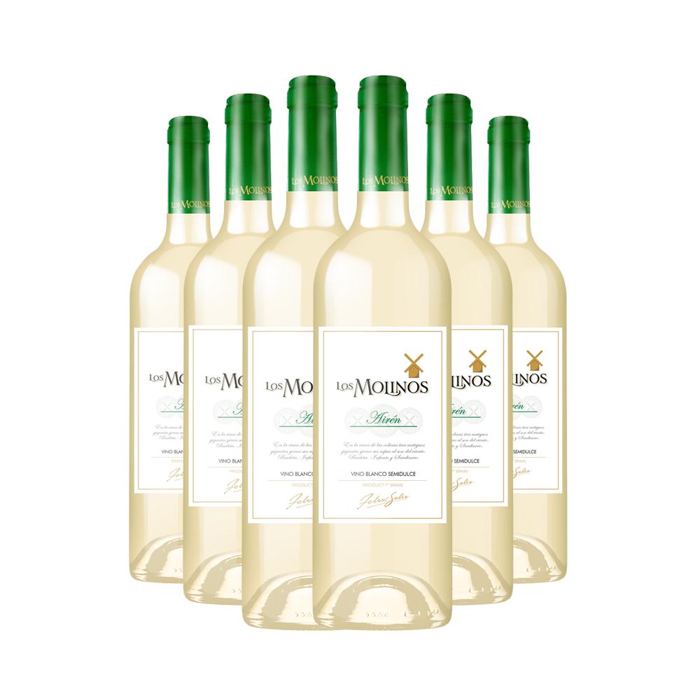 【正善牛肉哥】西班牙半甜酒魔力风车半甜型白葡萄酒750ml 6支装