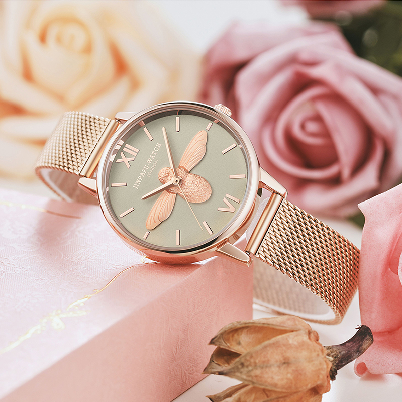 Small bee ob light luxury French minority watch women students Korean version simple ins College Fengsen Department women watch fashion