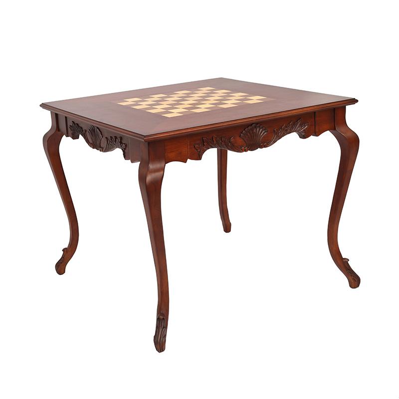 楷模大术美式实木游戏桌美式游戏桌餐厅方形家具