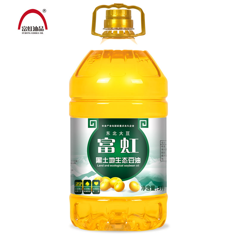Fuhong grain and oil grade 1 soybean oil 5L / barrel non genetically modified edible oil black land ecological household welfare package