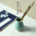 moon white authentic longquan celadon creative stationery restoring ancient ways round fine ceramic brush pot brush ball-point pen pencil multi-functional office