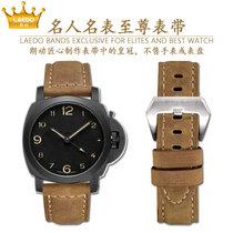 PAM111手表带磨砂疯马皮表带PAM441适用沛纳海Panerai朗动表带