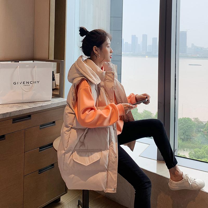 2019冬季新款韩版坎肩外穿背心中长款羽绒棉马甲女棉袄马夹外套潮
