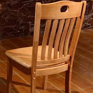 实木靠背餐椅 简约中式餐厅酒店餐桌椅子 办公椅橡木椅凳子