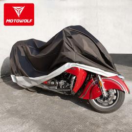 摩托车加厚车衣哈雷大排量遮阳隔热防雨车罩子防水防尘加大号车套图片