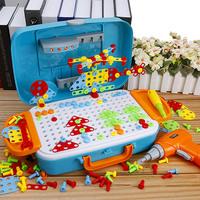 儿童拧螺丝钉玩具电钻工具组装箱拼装动手拆装拆卸螺母益智女男孩