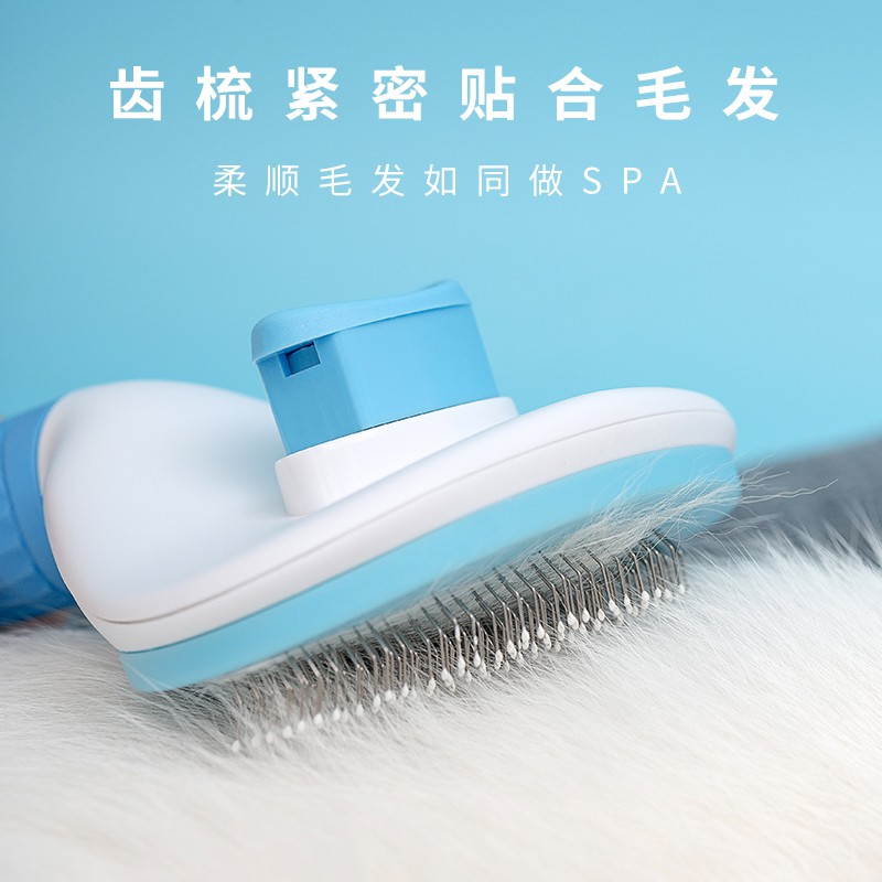 Long haired dog brush Teddy big dog golden dog golden hair rake comb pet comb cat. Dog hair comb