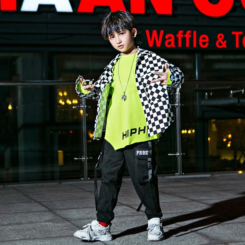 Chàng trai hip-hop phù hợp với hiệu suất mới quần áo hiệu suất Quần áo hiệu suất Hàn Quốc Quần áo hip hop hiphop đẹp trai thủy triều - Trang phục