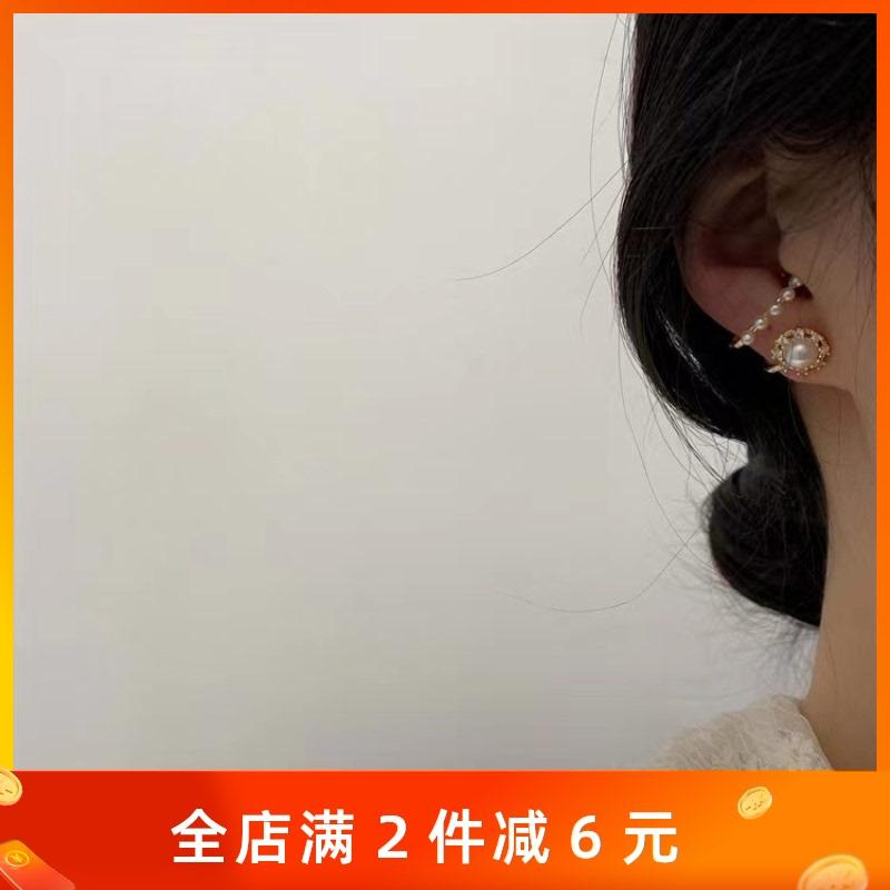 中國代購|中國批發-ibuy99|耳钉|vintage东大门同款小众设计耳钉温柔气质淑女复古宫廷珍珠耳骨夹