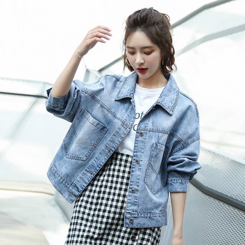 牛仔外套女装宽松学生韩版bf2019春季新款百搭牛仔褂短款牛仔衣潮