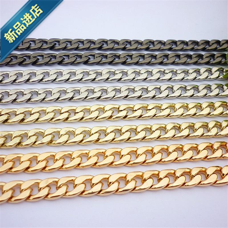 Bag lengthening chain Messenger Bag Handbag slanting span chain belt single shoulder belt s thick chain old flower light gold reconstruction payment