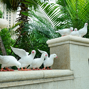 户外花园庭院公园装饰品创意树脂摆件工艺品仿真动物雕塑鸽子摆件品牌