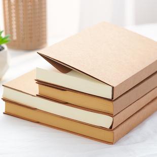 復古歐式牛皮紙空白速寫本韓國繪畫素描塗鴉本白紙本筆記本子加厚學生用手賬本手繪本創意簡約記事本B5A5