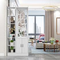 新中式简约现代屏风隔断简易座屏折屏客厅玄关柜装饰柜门厅柜一体