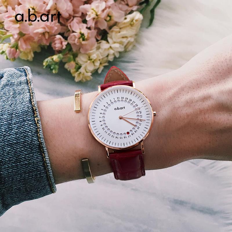 Abart German watch fashion trend jump point calendar watch couple watch Red Dot Award