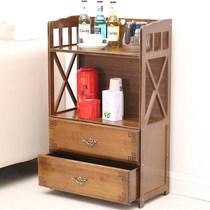 办公家用茶具茶台简易置物架收纳客厅边几茶几小型小茶柜落地