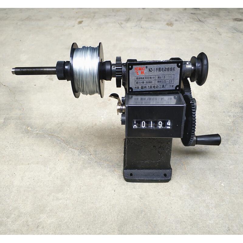 手摇式绕线机扎丝缠线机成计数绕线器双速计算器铁齿轮耐用 手摇