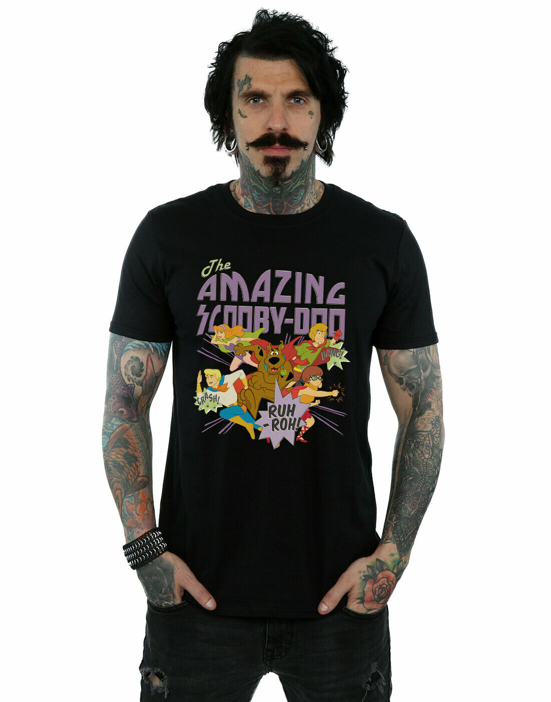 Scooby Dumens amazing Scooby t24676 T-Shirt New Super fire creative retro printing and dyeing short sleeve trend