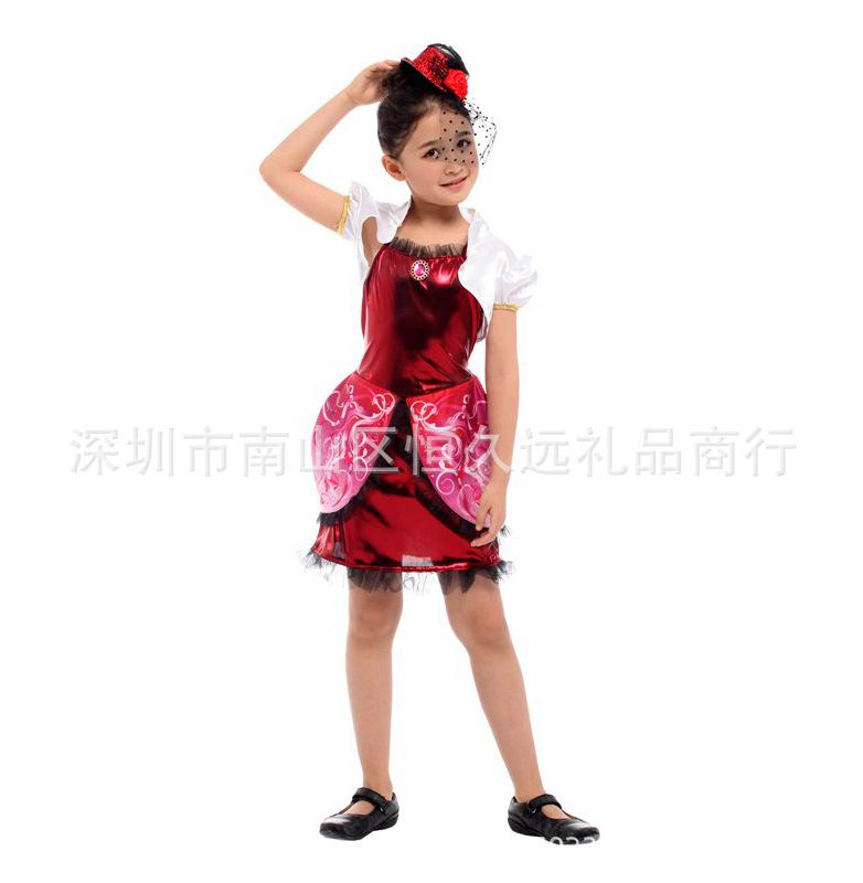 万圣节六一节学校话剧化妆舞会表演出服花朵公主皇后角色扮演儿童