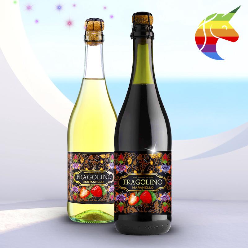 ストロベリーの香ばしい泡立ち赤+白ワインフラゴのほろ苦いカクテルイタリアの元の瓶の氷菓の味の酒