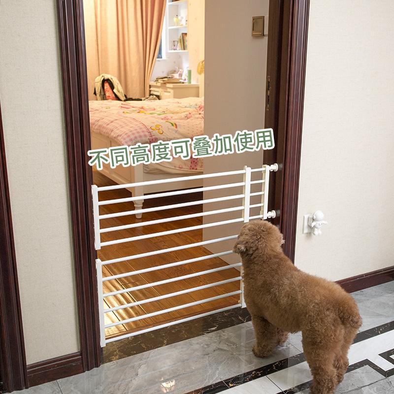家用宠物栏杆隔离门防挡猫狗狗围栏栅栏室内护栏狗笼子大中小型犬图片