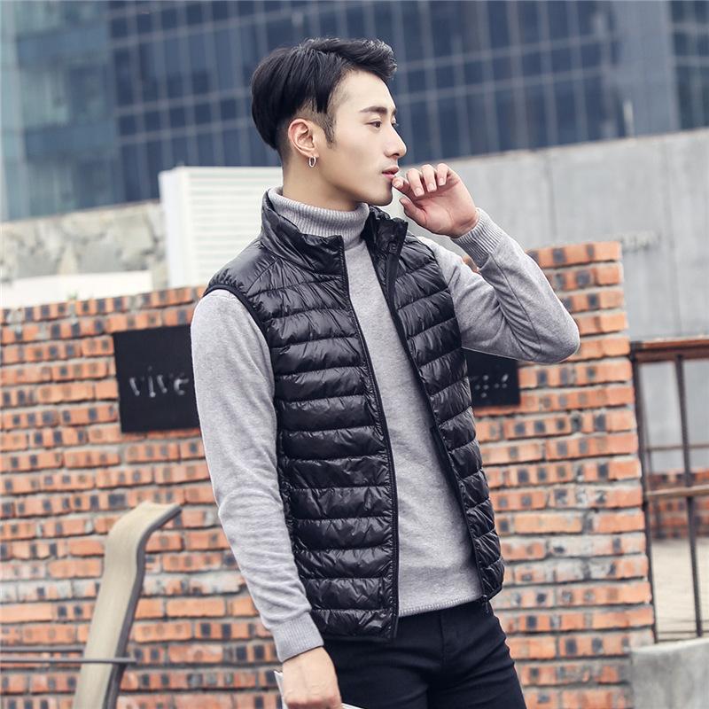 Winter Siyu 2020 mens light down vest mens light down jacket mens oversize