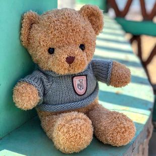 泰迪熊毛绒玩具抱抱熊布娃娃小熊公仔大号女友生日礼物抱枕 正版