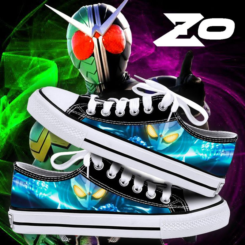 Couples low top printed shoes fake Burmese riding Shijia Wukong Japanese sports single shoes anime peripheral casual canvas shoes
