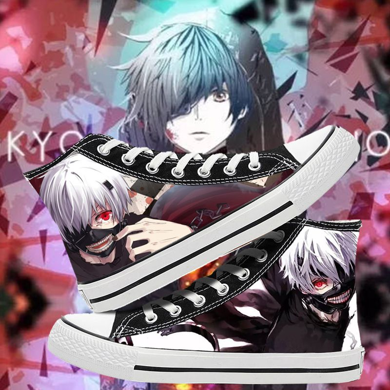 Students high top printed shoes Tokyo Ghoul sports flat shoes