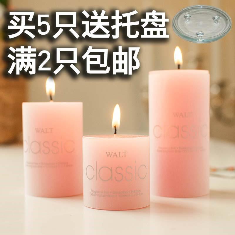 香薰蜡烛 浪漫无欧式spa 大圆柱烛光晚餐蜡烛 去味除