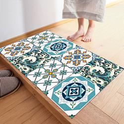 卫生间防滑瓷砖过道地贴厨房地面墙贴装饰品防水地垫自粘地板贴纸