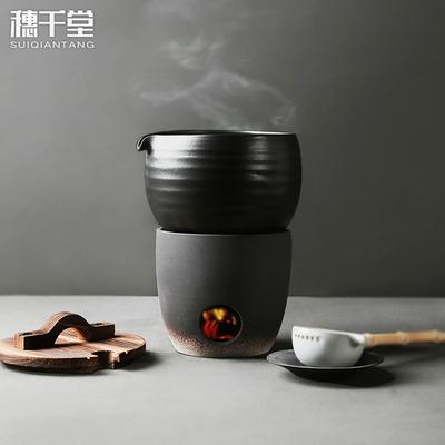 穗千堂 日式复古禅意过滤内胆煮茶器 陶瓷 电陶炉炭炉温酒煮茶碗