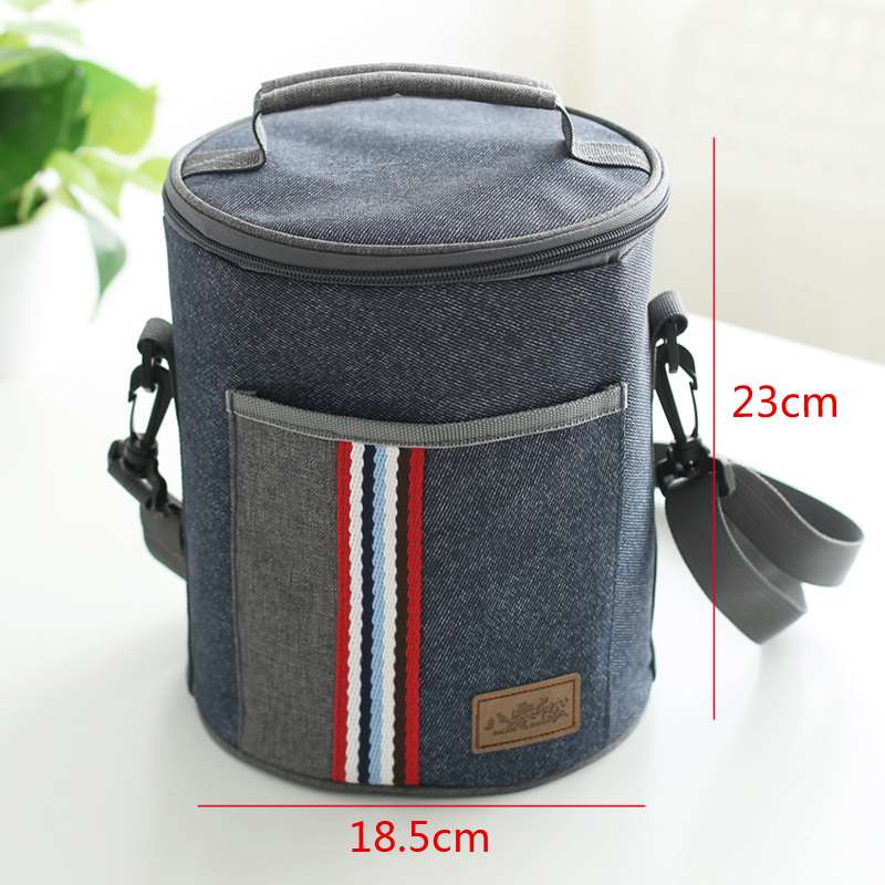 Oxford cloth insulated bucket bag carrying round lunch box bag carrying lunch box bag lunch box bag