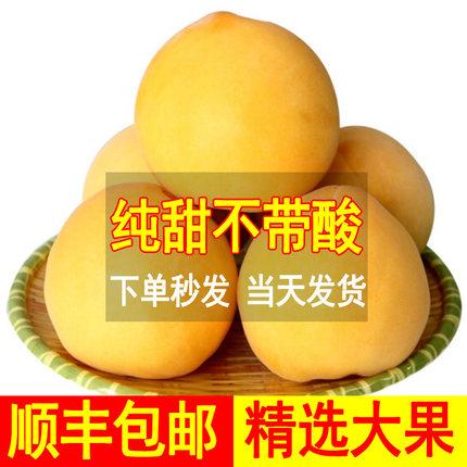 5斤纯甜新鲜脆甜软黄金桃黄桃水果桃子水蜜桃黄桃 水蜜桃毛锦绣黄
