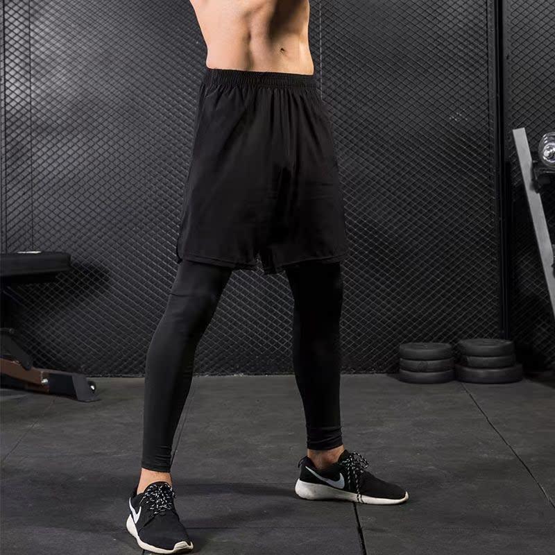 11-07新券新品轩尧耐克泰官网正品运动裤紧身裤男假两件长裤 健身运动跑步