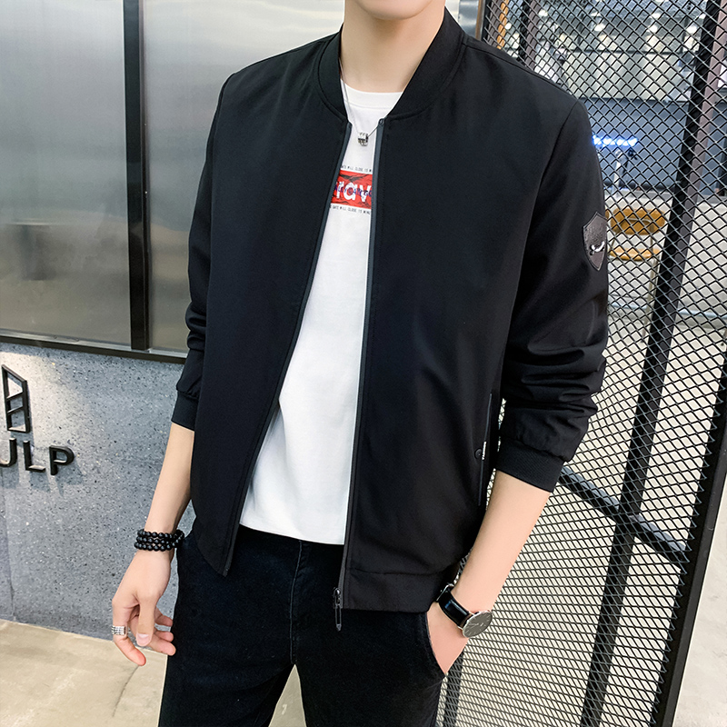 Mens coat 2020 new spring and autumn Korean version trend slim Top Casual autumn clothes jacket mens fashion