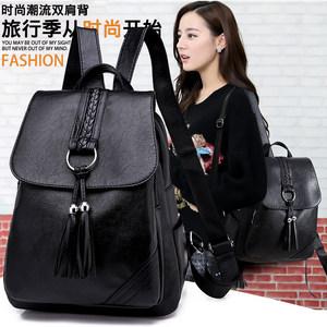 双肩包女士2020新款韩版百搭小背包包软皮休闲时尚旅行2019大书包
