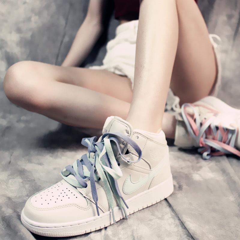 官网正品aj1女鞋酷爱耐克韩版空军一号夏季小白鞋AF1四色鸳鸯板鞋