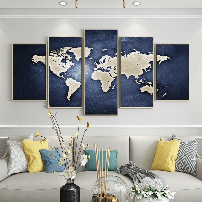 世界地图会议室办公室客厅墙壁画