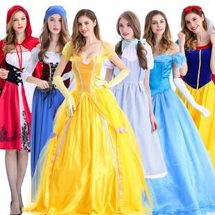 万圣节公主裙仙女装 复古成人大人服装 女佣睡美人宫廷连衣裙海盗