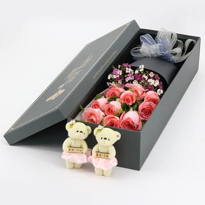 普洱市思茅区实体店情人节玫瑰花束红玫瑰礼盒鲜花速递同城配送花