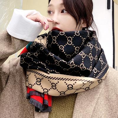 围巾女秋冬季2020新款加厚保暖围脖韩版仿羊绒披肩两用百搭网红款