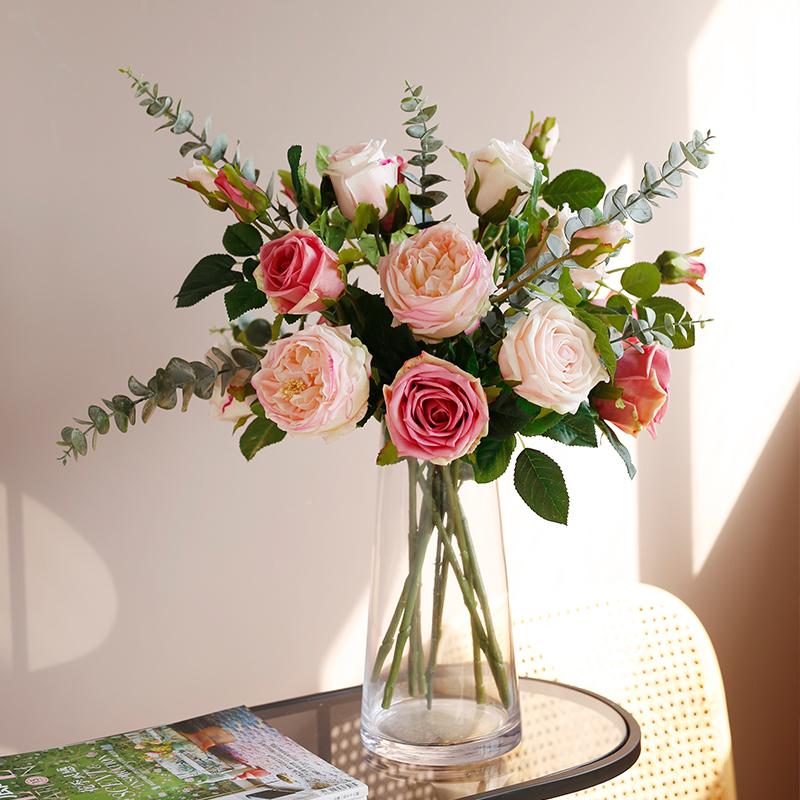 栀美家庄园玫瑰花束手捧花仿真花值得买吗