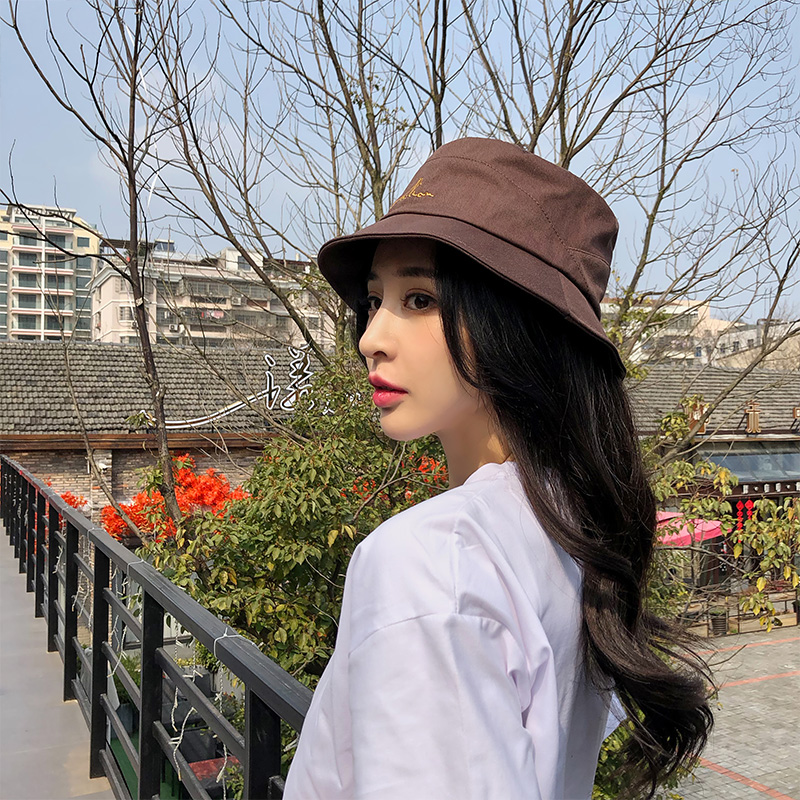 Net red fishermans Hat Womens Japanese literature and art versatile fashion foreign style sunshade shopping style sun proof Korean fashion hat childrens summer