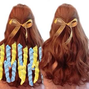 卷发懒人不伤发塑料卷发器水波纹大波浪蛋卷头睡觉定型卷发筒