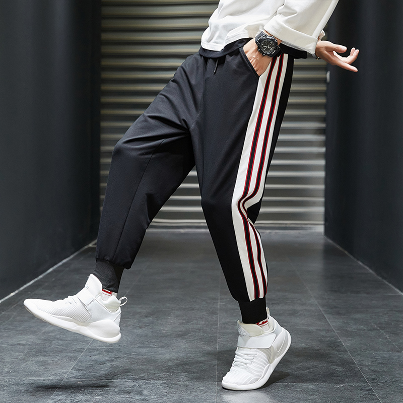 Casual pants mens 2020 new style overalls 9-point corset Korean fashion sports casual pants